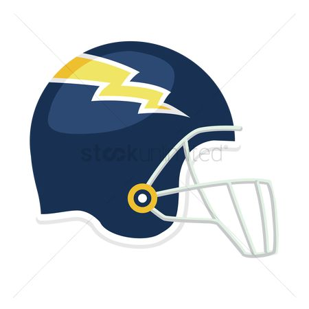 Background : Side view of an american football helmet