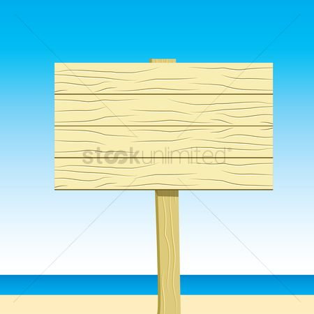 Wooden sign : Sign board