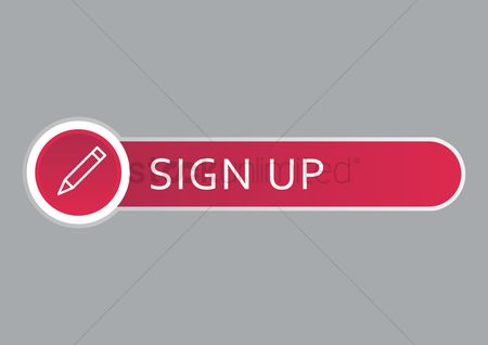 Register : Sign up web button