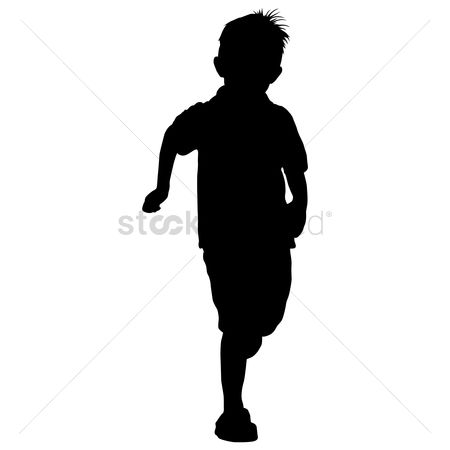 Kids : Silhouette of a boy