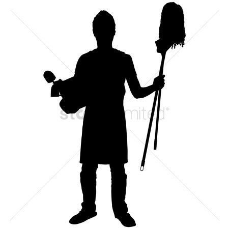 Broom : Silhouette of a man