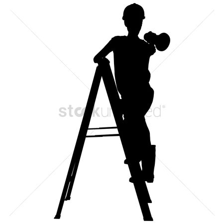 Hard hat : Silhouette of a woman