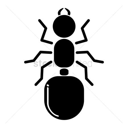 Cutout : Silhouette of ant
