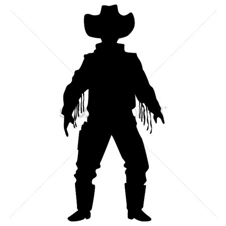 Cowboys : Silhouette of cowboy