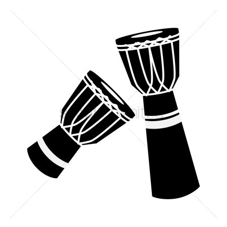 Percussions : Silhouette of djembe