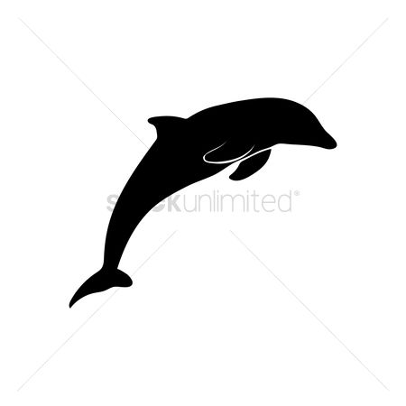 Cutout : Silhouette of dolphin