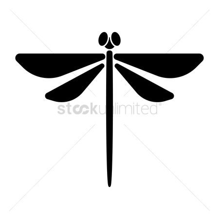 Cutout : Silhouette of dragonfly