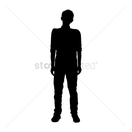 Cutout : Silhouette of man standing