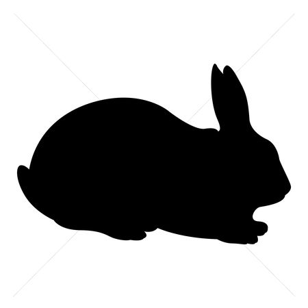Cutout : Silhouette of rabbit