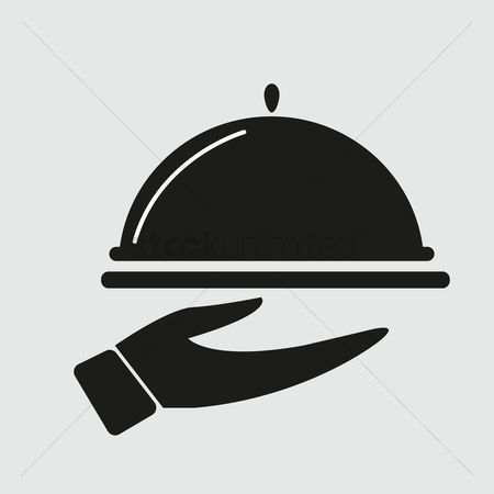 Serve : Silhouette of serving dish in hand