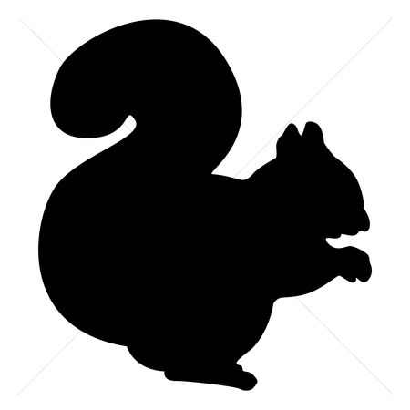 Cutout : Silhouette of squirrel