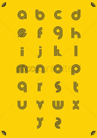 Typographics : Simple alphabet set