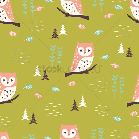 Owl : Simple pattern design