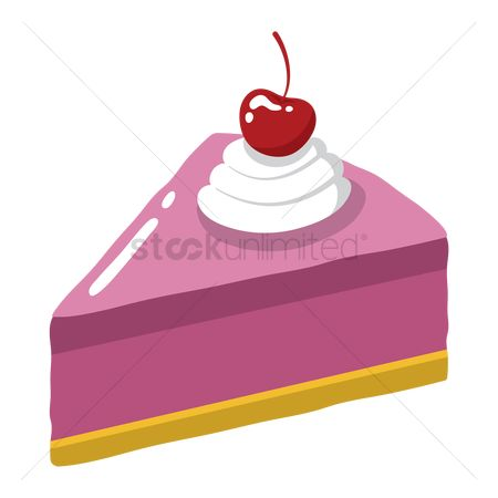 Popular : Slice of cake with cherry on top