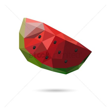 Watermelon slice : Slice of watermelon