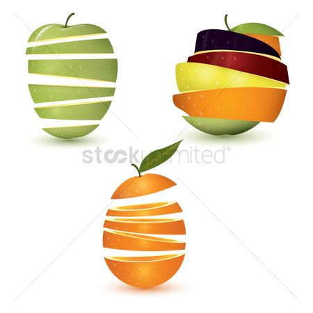 Mangoes : Sliced fruit set