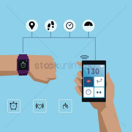 Smart : Smart watch health concept
