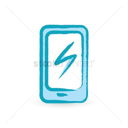 Charging icon : Smartphone with charger icon