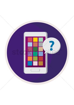 Notification : Smartphone with question mark