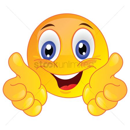 Character : Smiley face showing thumbs up