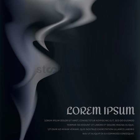 Black background : Smoke background design