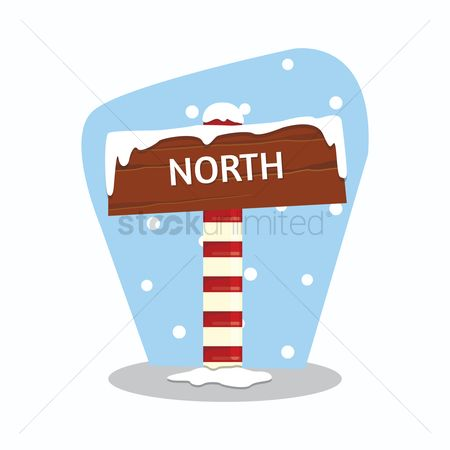 Wooden sign : Snow covered wooden sign