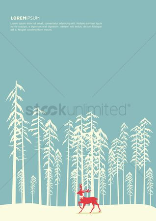 Snow : Snow forest poster design