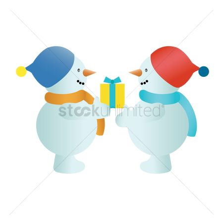 Exchanges : Snowman exchanging gifts