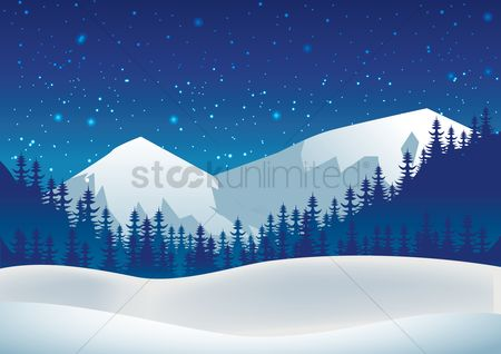 Mountain : Snowy mountains background