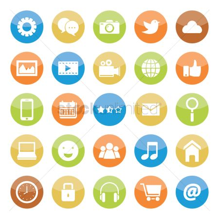 Phones : Social media icon collection