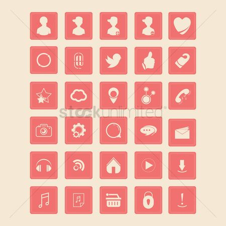 Favourites : Social media icon collection