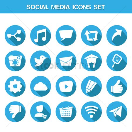 Comment : Social media icons set