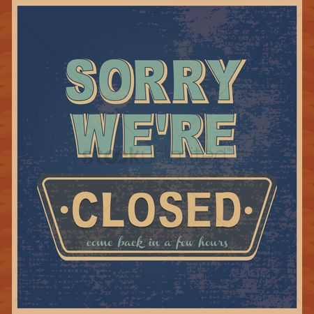 Old fashioned : Sorry we re closed wallpaper