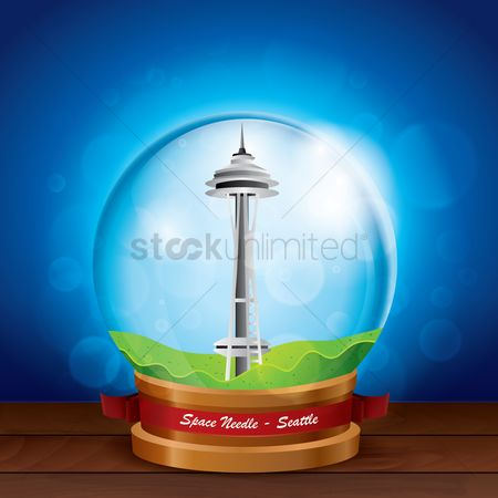 Needle : Space needle in crystal ball