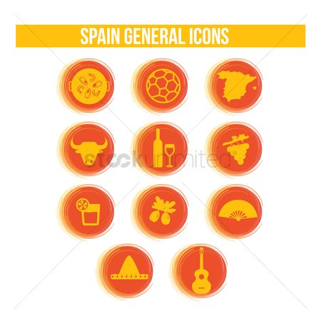 Red wines : Spain general icons