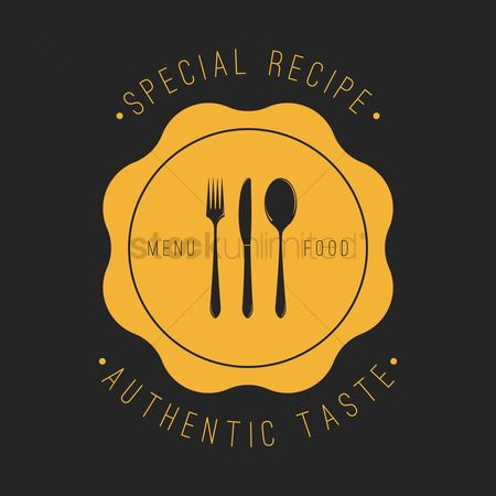 Dishes : Special recipe label