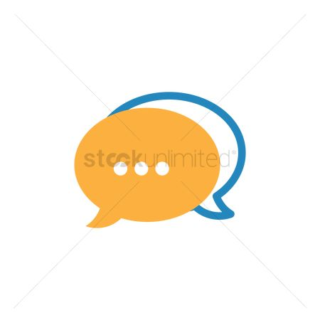 Chat : Speech bubble icon