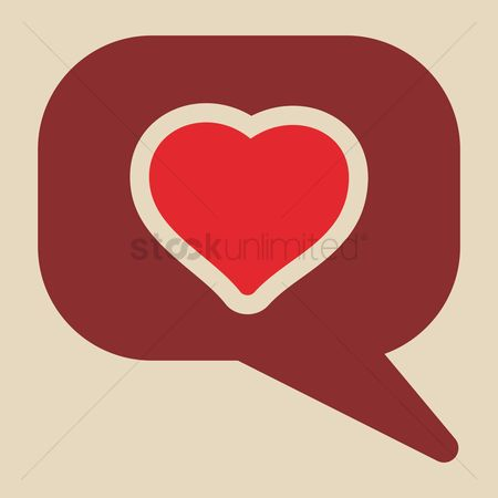 Love speech bubble : Speech bubble with a heart