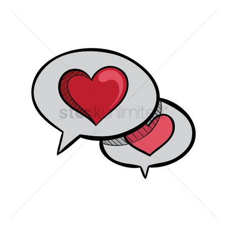 Love speech bubble : Speech bubble with heart inside