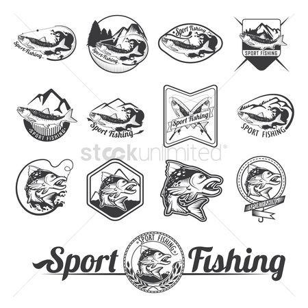 Activities : Sport fishing label collection