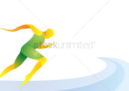 Athletes : Sports competition sprinting