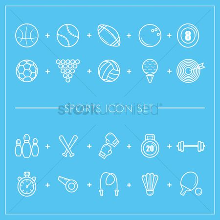Footballs : Sports icon set