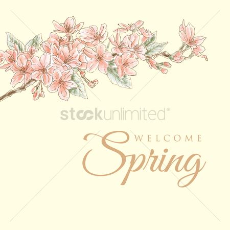 Season : Spring card design