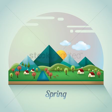 Mountains : Spring landscape