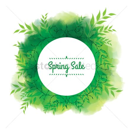 Vectors : Spring sale label