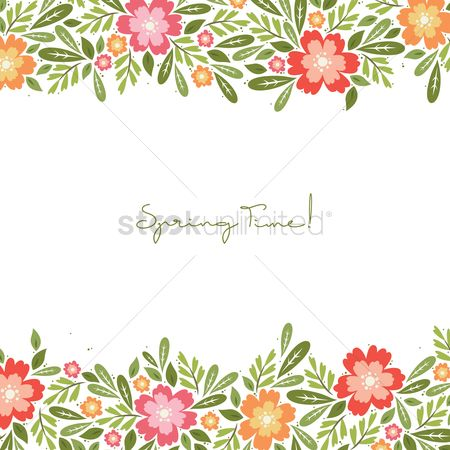 Spring : Spring time card design