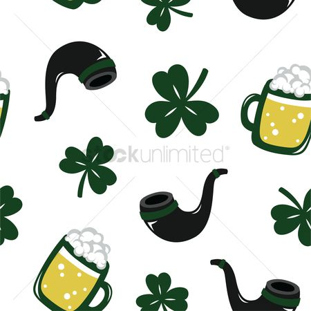 Smoking pipe : St patricks day theme background