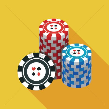 Casinos : Stacks of poker chips
