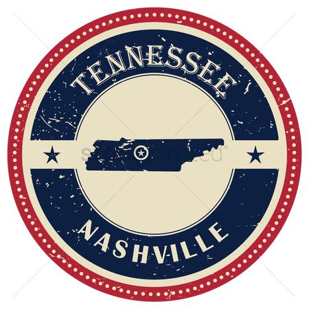 Tennessee : Stamp of tennessee state