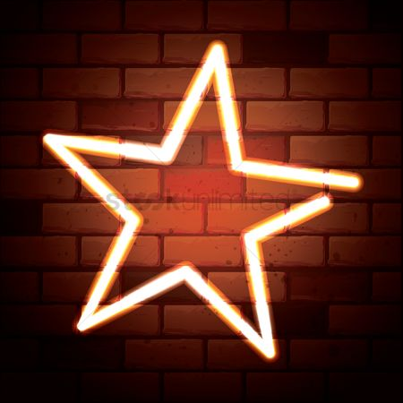 Brick : Star shape on bricks wall background